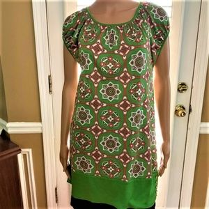 JUICY COUTURE Green Pink Printed Tunic - NWOT